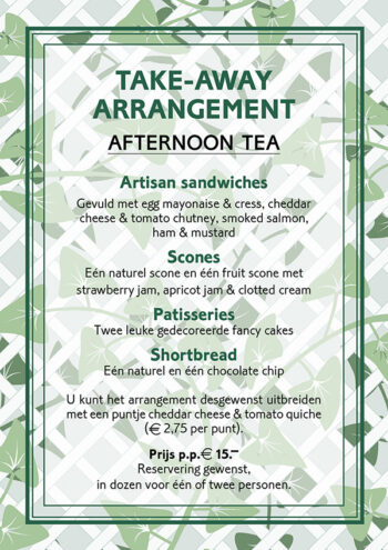 Take-away arrangement - okt 2020 - Tea time