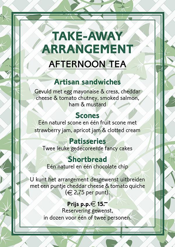Take-away arrangement - okt 2020 - Tea time